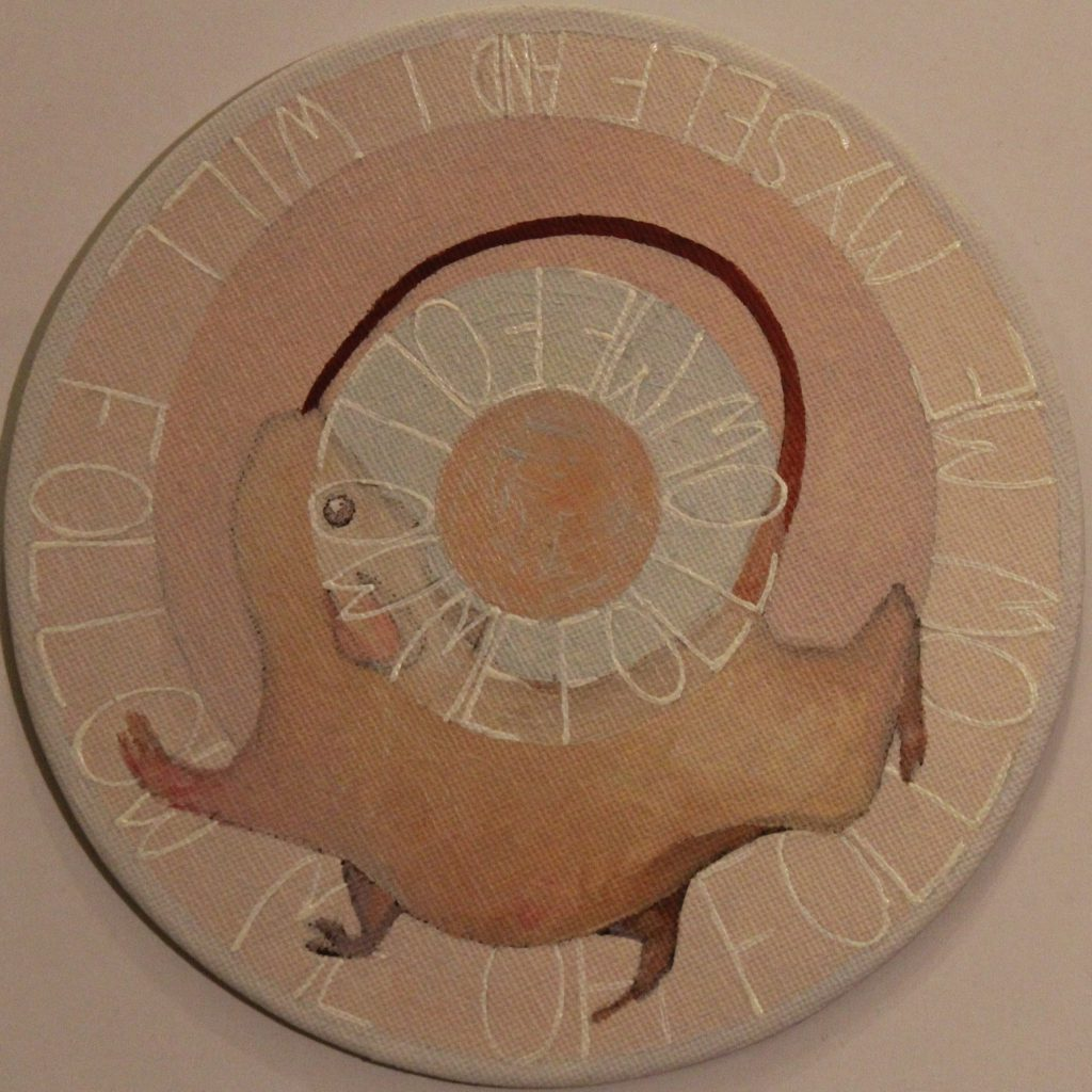 Thoughts on circles: Follow painting by Sandy Lang