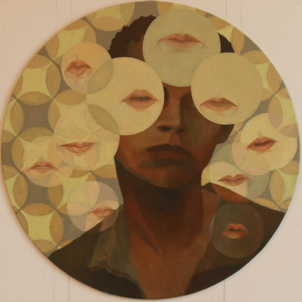 Mouthsight painting by Sandy Lang