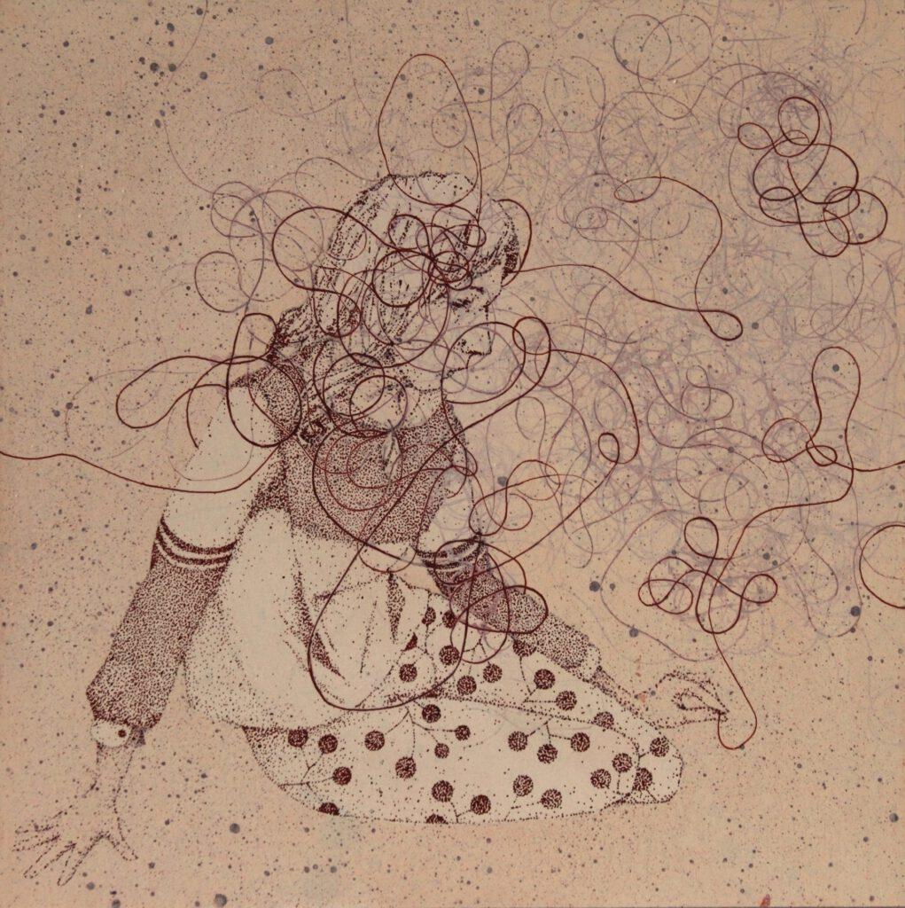 Sandy Lang ink tuschebild diptych